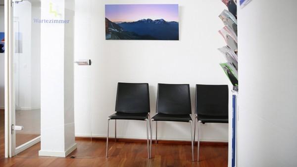 Wartezimmer in der Zahnarztpraxis.